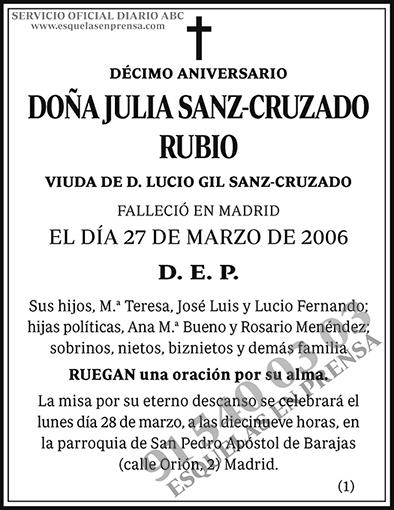 Julia Sanz-Cruzado Rubio